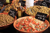 Olives at a french market — Стоковое фото