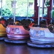 Stock Photo: Dodgem cars in row