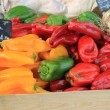 Peppers at a market — Stock Photo #42056041