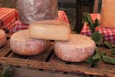 Cheese at a market — Stock Photo