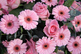 Pink bridal flowers — Stock Photo