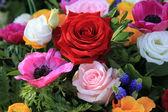 Bright colored bridal flowers — Foto de Stock