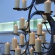 Candles at a funeral service — Stock Photo