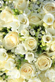 White wedding arrangement — Stock Photo