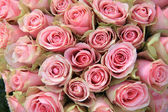 Pink roses in a wedding arrangement — Stock Photo