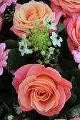 Růžové svatební květiny — Stock fotografie