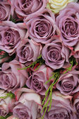 Purple roses in a wedding arrangement — Stock Photo