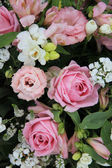 Disposizione da sposa rosa e bianco — Foto Stock