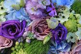Blue and purple wedding arrangement — Foto Stock