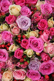 Centerpiece in pink and purple — Stock Photo