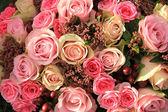 Pastel roses wedding arrangement — Foto Stock
