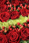 Röd ros bröllop arrangemang — Stockfoto