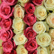 Pink roses in different shades in wedding arrangement — Stock Photo #45038301