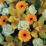 Cymbidium orchids, Gerberas and roses — Stock Photo #45038473