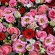 Red, pink and white wedding arrangement — Stock Photo #45038727