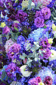 Blue wedding arrangement — Stock Photo
