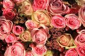 Pastel roses wedding arrangement — Foto de Stock