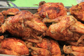 Chicken on the grill — Stock Photo