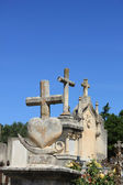 Grave ornaments at an old French cemetary — Foto de Stock