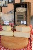 Cheese at a Provencal market — Stock Photo