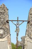 Old cast iron cross ornament — Stock Photo