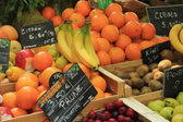 Fruit stall at a French market — Stock Photo