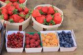 市场的一个摊位的浆果 — 图库照片