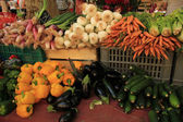 Vegetables at a market stall — Stock Photo