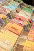 French soap at a market stall — Stock Photo