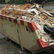 Loaded dumpster — Stock Photo
