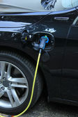 Hybrid car recharge — Stock Photo