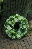 Sympathy wreath — Stock Photo