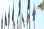 Banderas del orgullo gay — Foto de Stock
