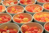 Fresh sliced fruit — Stock Photo