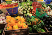 Fruit and vegetables at French market — Stock Photo