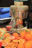 Juice bar at a market — Stock Photo