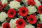 Bridal bouquet in red and white — Stock Photo