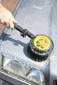Manual car wash — Stock Photo