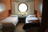 Cruise ship cabin interior — Stock Photo