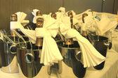 Champagne bottles — Stock Photo