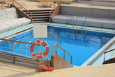 Swimming pool area at cruise ship — Stock Photo