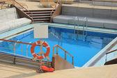Swimming pool area at cruise ship — Stock Photo