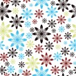 Seamless retro pattern. Vector. — Stock Vector