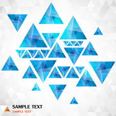 Abstract geometrical background with blue triangles — Stock Vector