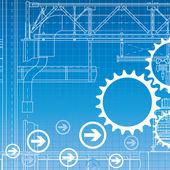 Industrial background. Vector. — Stock Vector