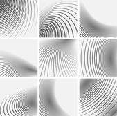Set of striped abstract forms — Stock Vector