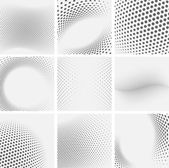 Set of dotted abstract forms — Stock Vector