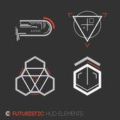 Futuristic HUD elements — Stock Vector