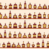 Seamless pattern with bottles. — Stock Vector