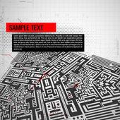 Abstrakt teknik bakgrund — Stockvektor